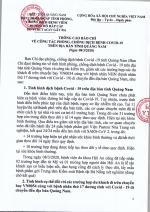 Thông cáo báo chí công tác phòng, chống dịch bệnh Covid-19 trên địa bàn tỉnh Quảng Nam (Ngày 8/3/2020)