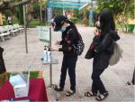 Trường THCS Kim Đồng chào đón các em học sinh quay trở lại trường.