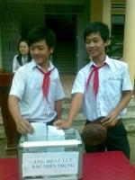 Trường THCS Nguyễn Khuyến mở đợt ủng hộ bão lụt
