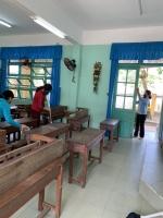 Trường Tiểu học Sơn Phong tổ chức tổng dọn vệ sinh trường, lớp  phòng chống dịch bệnh Cô-rô-na